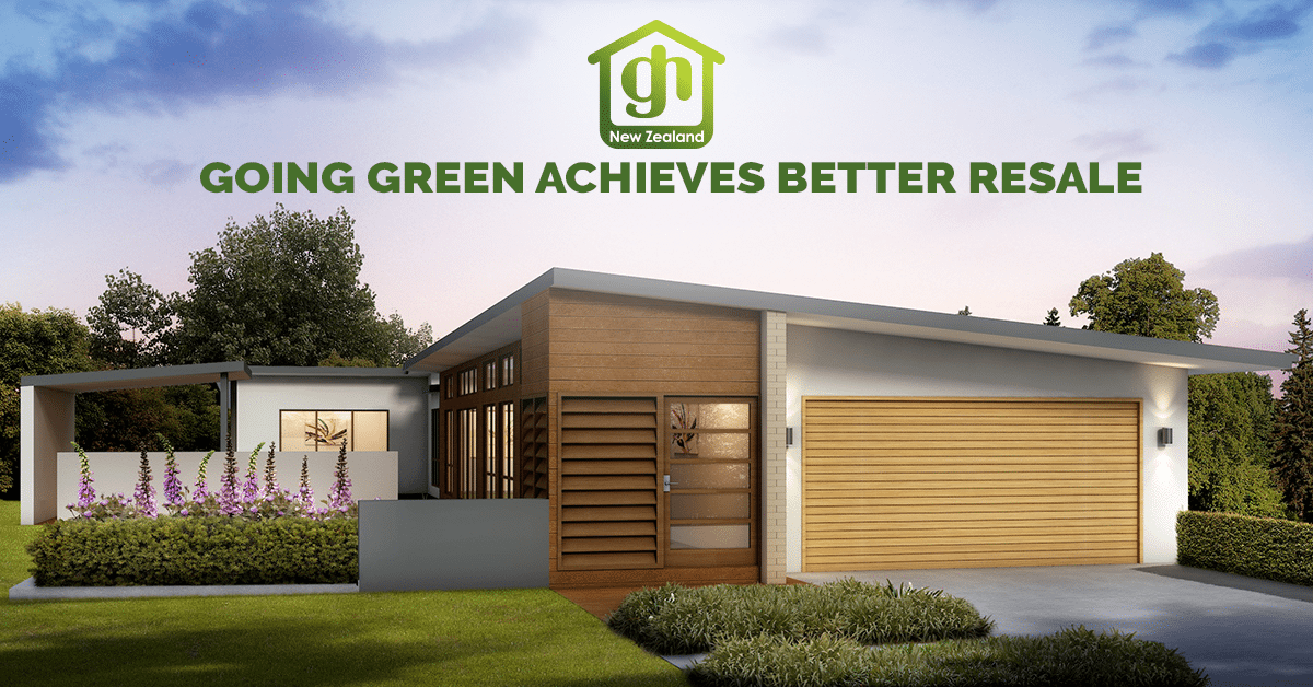 Going green achieves better resale on your new home for Green home builders