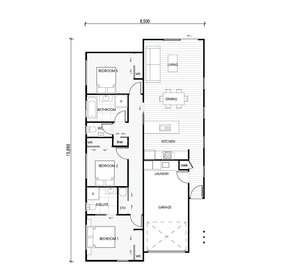 Awaroa floor plan